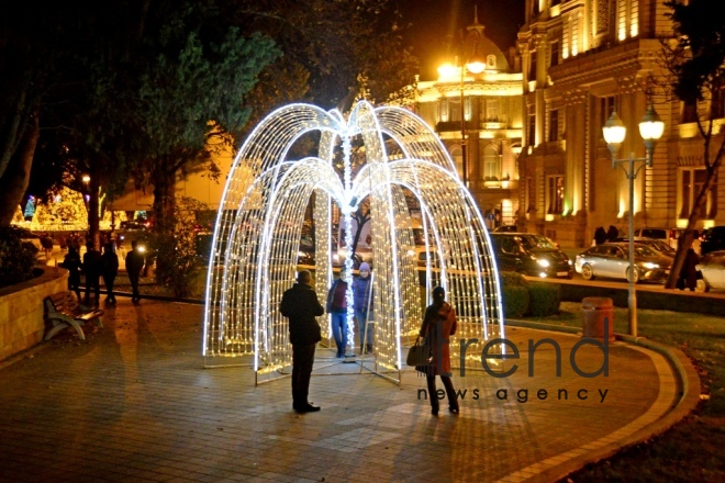 New Years eve in Baku . Azerbaijan Baku 28 December 2018