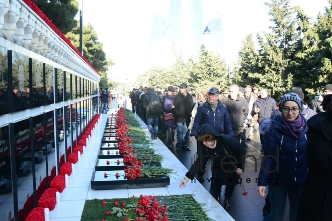 Azerbaijan commemorates 29th anniversary of January 20 tragedy. Azerbaijan, Baku, january 20, 2019