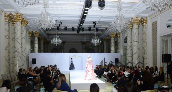 Baku hosts presentation of Mirana Atelier Alta Moda brand and colorful defile Back to Edem. Azerbaijan Baku 8 February 2019
