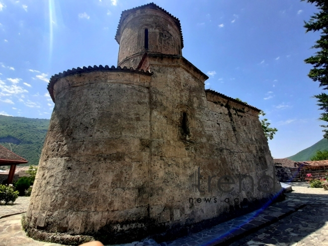 Albanian church in Kish village. Azerbaijan Sheki July 3 2019