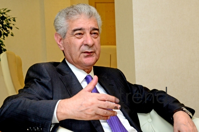 Azerbaijani Deputy Prime Minister, Deputy Chairman and Executive Secretary of the ruling New Azerbaijan Party Ali Ahmadov.Azerbaijan, Baku, 4 July 2019