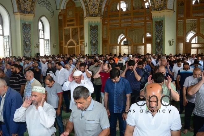 Eid prayer performed in all mosques in Azerbaijan on occasion of Kurban  holiday.Azerbaijan, Baku, august 12 , 2019
