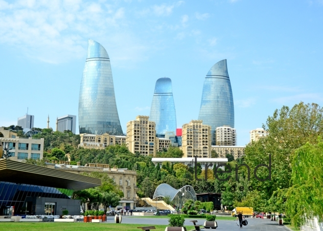Admirable Baku Boulevard.Azerbaijan, Baku, september 6 , 2019