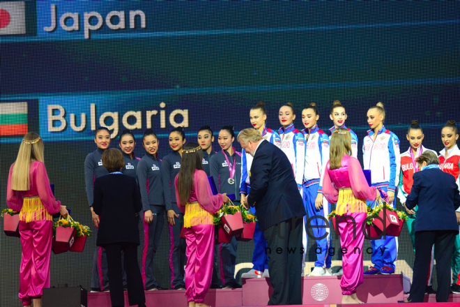 Day 6 of competitions in 37th Rhythmic Gymnastics World Championships kicks off in Baku.Azerbaijan, Baku, September 21  2019