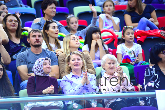 Baku hosts colorful closing ceremony of 37th Rhythmic Gymnastics World Championships.Azerbaijan, Baku, September 22   2019.