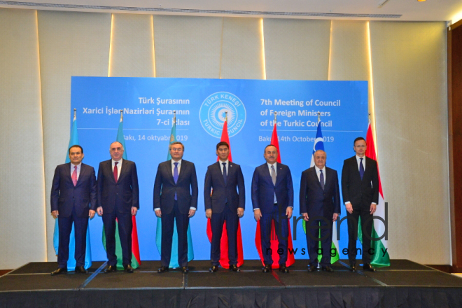 Meeting of he Foreign Ministers of Turkic Council states underway in Baku.Azerbaijan, Baku, осtober 14  2019