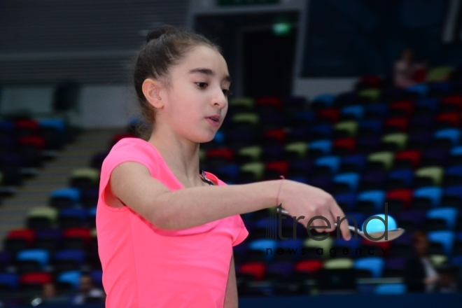 Relay competitions of Azerbaijan Gymnastics Federation held at National Gymnastics Arena. Azerbaijan Baku 7 december 2019