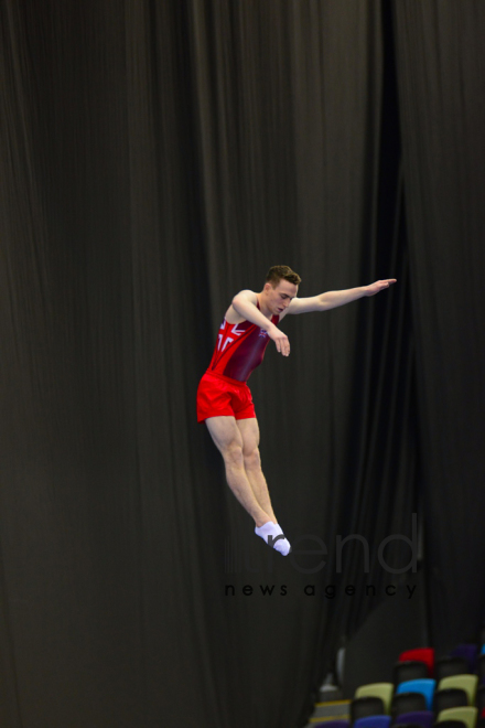 FIG World Cup in Trampoline Gymnastics Tumbling kicks off in Baku.Azerbaijan Baku 15  February 2020