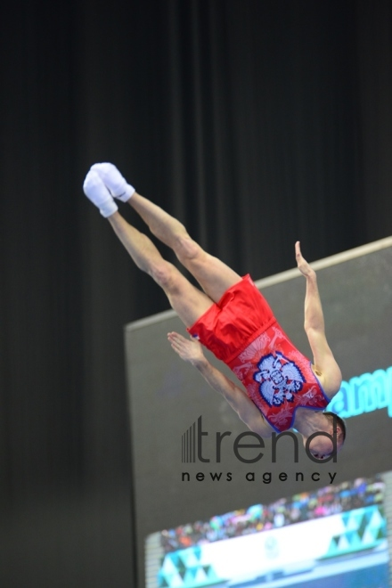 Finals of FIG World Cup in Trampoline  Tumbling kicks off in Baku  Azerbaijan Baku 16 February 2020