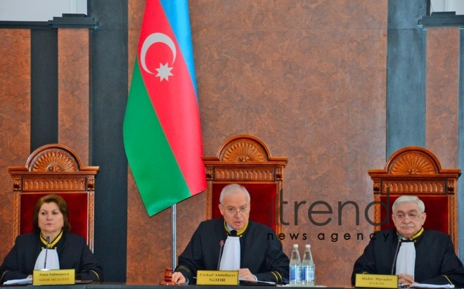 Azerbaijans Constitutional Court approves parliamentary election results. Azerbaijan Baku 5 march 2020