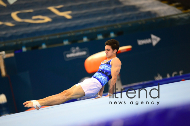 AGF Junior Trophy International Tournament in Mens Artistic Gymnastics kicks off in Baku.Azerbaijan Baku 10 march 2020